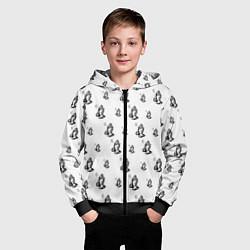 Толстовка на молнии детская Drake - six цвета 3D-черный — фото 2