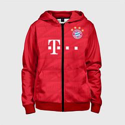 Толстовка на молнии детская FC Bayern: Home 19-20 цвета 3D-красный — фото 1