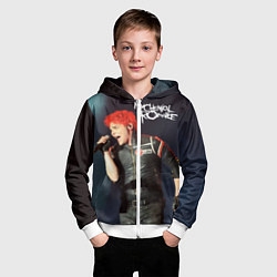 Толстовка на молнии детская Gerard Way цвета 3D-белый — фото 2