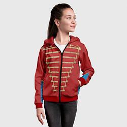 Толстовка на молнии детская Пиджак Майкла Джексона цвета 3D-красный — фото 2