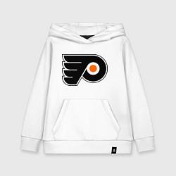 Толстовка детская хлопковая Philadelphia Flyers цвета белый — фото 1
