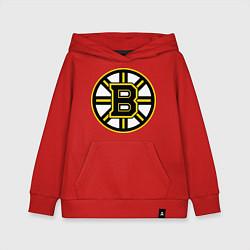 Толстовка детская хлопковая Boston Bruins цвета красный — фото 1