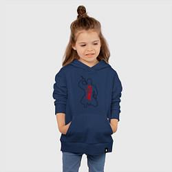 Толстовка детская хлопковая Ниндзя цвета тёмно-синий — фото 2