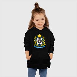 Толстовка детская хлопковая Хабаровский край цвета черный — фото 2