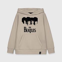 Толстовка детская хлопковая The Beatles: Faces цвета миндальный — фото 1