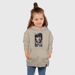 Толстовка детская хлопковая Остап Бендер: портрет цвета миндальный — фото 2
