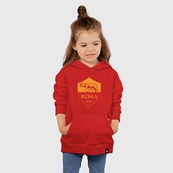 Толстовка детская хлопковая AS Roma: Autumn Top цвета красный — фото 2