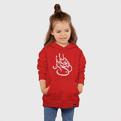 Толстовка детская хлопковая Jah Khalib цвета красный — фото 2