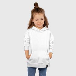 Толстовка детская хлопковая T-Fest цвета белый — фото 2