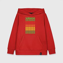 Толстовка детская хлопковая Armin van Buuren: EQ цвета красный — фото 1