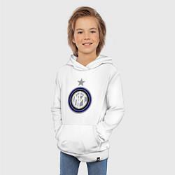 Толстовка детская хлопковая Inter FC цвета белый — фото 2
