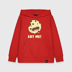 Толстовка детская хлопковая Cake: Eat me! цвета красный — фото 1