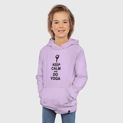 Толстовка детская хлопковая Keep Calm & Do Yoga цвета лаванда — фото 2