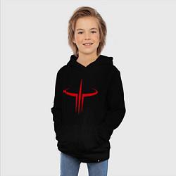 Толстовка детская хлопковая Quake logo цвета черный — фото 2