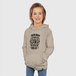 Толстовка детская хлопковая Parkway Drive: Australia цвета миндальный — фото 2