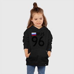 Толстовка детская хлопковая RUS 96 цвета черный — фото 2