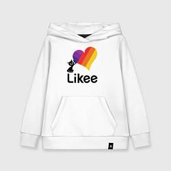 Толстовка детская хлопковая Likee LIKE Video цвета белый — фото 1