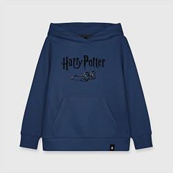 Толстовка детская хлопковая Гарри Поттер цвета тёмно-синий — фото 1
