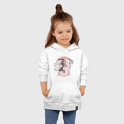 Толстовка детская хлопковая Гарри Поттер цвета белый — фото 2