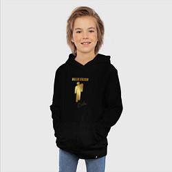 Толстовка детская хлопковая Billie Eilish автограф цвета черный — фото 2