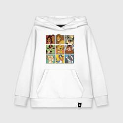 Толстовка детская хлопковая The Lion King Characters цвета белый — фото 1