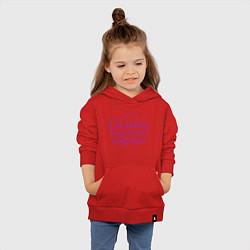 Толстовка детская хлопковая Самая надежная подруга цвета красный — фото 2
