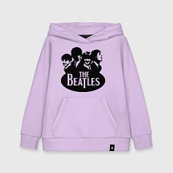 Толстовка детская хлопковая The Beatles Band цвета лаванда — фото 1