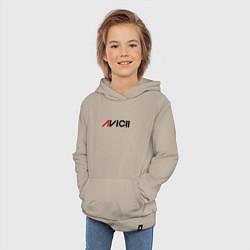 Толстовка детская хлопковая Avicii цвета миндальный — фото 2