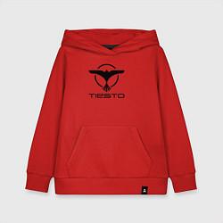 Толстовка детская хлопковая Tiesto цвета красный — фото 1