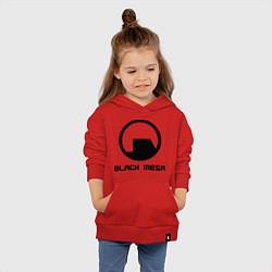 Толстовка детская хлопковая Black Mesa: Logo цвета красный — фото 2