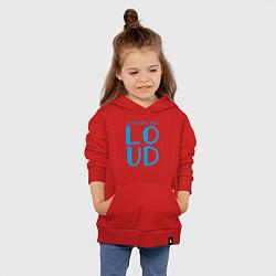 Толстовка детская хлопковая Thinking Out: Loud цвета красный — фото 2