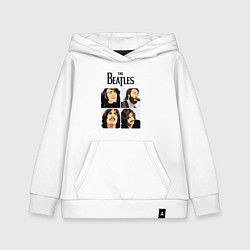 Толстовка детская хлопковая The Beatles Stories цвета белый — фото 1