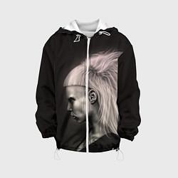 Куртка с капюшоном детская Die Antwoord GIrl цвета 3D-белый — фото 1