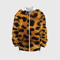 Куртка с капюшоном детская Шкура леопарда цвета 3D-белый — фото 1