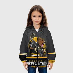 Куртка с капюшоном детская Boston Bruins цвета 3D-черный — фото 2