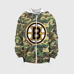 Детская 3D-куртка с капюшоном с принтом Bruins Camouflage, цвет: 3D-белый, артикул: 10107922705458 — фото 1