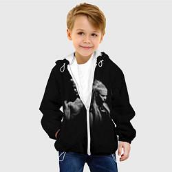 Детская 3D-куртка с капюшоном с принтом Die Antwoord: Black, цвет: 3D-белый, артикул: 10112002405458 — фото 2
