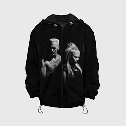 Куртка 3D с капюшоном для ребенка Die Antwoord: Black - фото 1