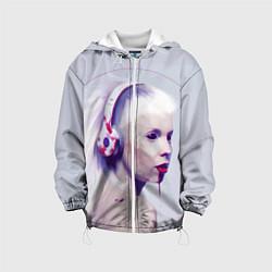 Куртка с капюшоном детская Die Antwoord: Wild Eyes цвета 3D-белый — фото 1