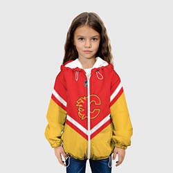 Куртка с капюшоном детская NHL: Calgary Flames цвета 3D-белый — фото 2