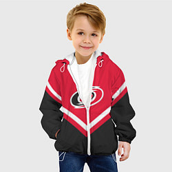 Куртка с капюшоном детская NHL: Carolina Hurricanes цвета 3D-белый — фото 2