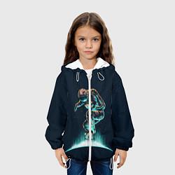 Куртка с капюшоном детская Планетарный скейтбординг цвета 3D-белый — фото 2