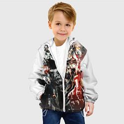 Куртка с капюшоном детская Metal gear solid 5 цвета 3D-белый — фото 2