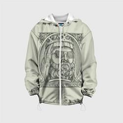 Детская 3D-куртка с капюшоном с принтом Big Russian Boss, цвет: 3D-белый, артикул: 10113073405458 — фото 1