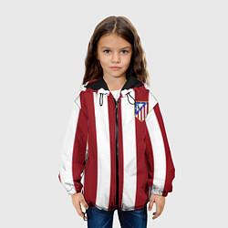 Куртка с капюшоном детская Атлетико Мадрид цвета 3D-черный — фото 2