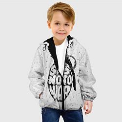 Куртка с капюшоном детская Say no to War цвета 3D-черный — фото 2