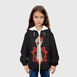 Детская 3D-куртка с капюшоном с принтом Oxxxymiron: do what thou wilt, цвет: 3D-белый, артикул: 10115874805458 — фото 2