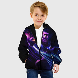 Детская 3D-куртка с капюшоном с принтом Malzahar, цвет: 3D-черный, артикул: 10116333205458 — фото 2
