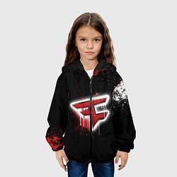 Куртка с капюшоном детская FaZe Clan: Black collection цвета 3D-черный — фото 2