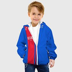 Куртка с капюшоном детская ЦСКА Форма цвета 3D-белый — фото 2